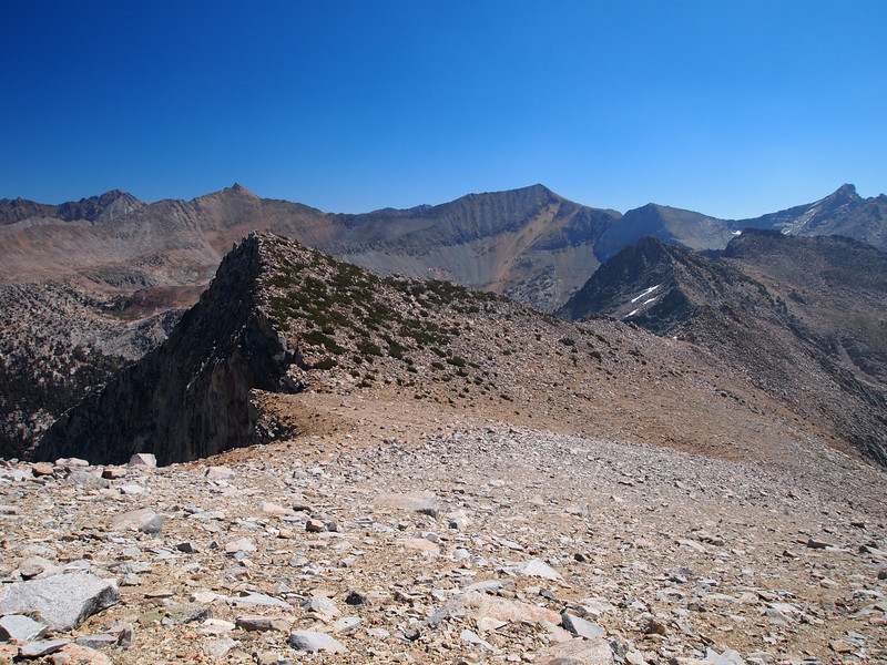 Looking back at Arrow Pass - it's the Pass over on the left side of the Photo.