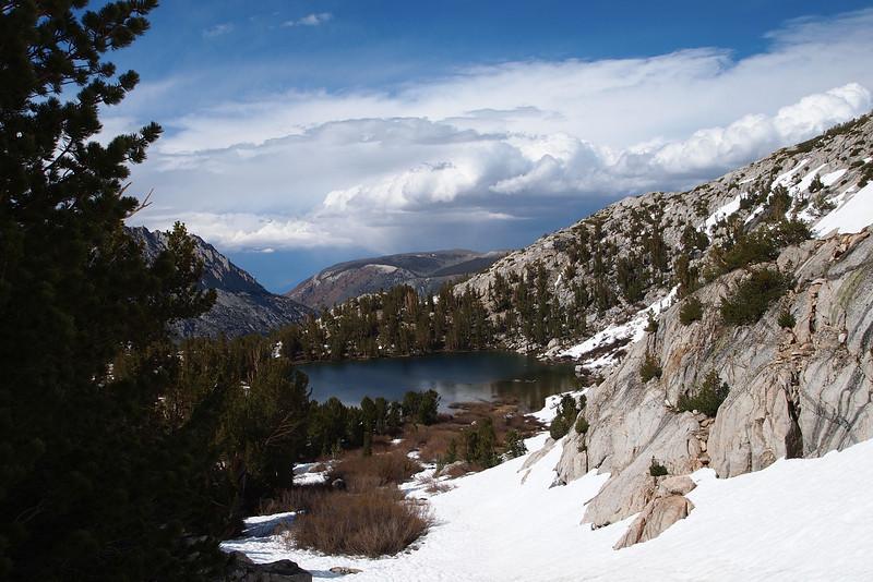 Looking back down at a Treasure Lake.