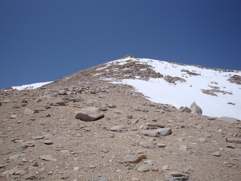 Trojan Peak - from the sandy slope I headed into the rocks.