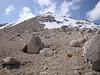 Looking back at Trojan Peak as I headed down.