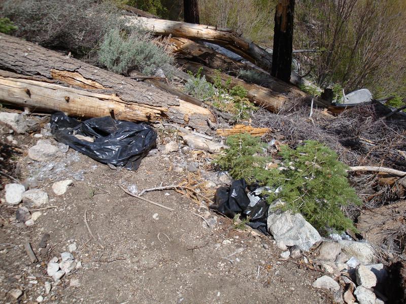 more trash left behind