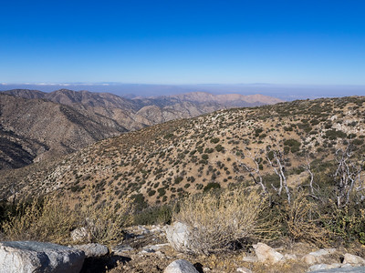 View toward the Northwest from Bare Mountain - Bare Canyon and Santiago Canyon and the desert beyond.