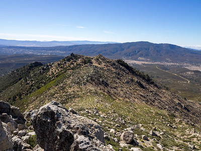View Southerly from  Cone Peak - Thomas Mountain on the right across Garner Valley