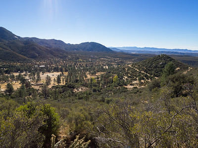 Looking back down at Tripp Meadow and Morris Ranch Road