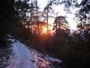 As we got closer to the trailhead the sun started to set.