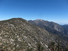 Looking back at Anderson from San Bernardino East - San Gorgonio in the distance.