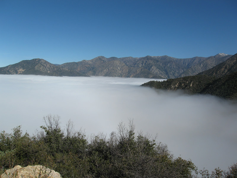Above the clouds along route to Iron Mountain - view northwesterly