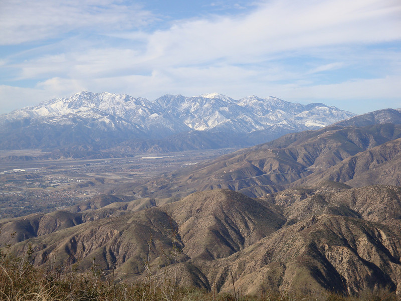 zoomed in on the San Gabriels - Baldy area