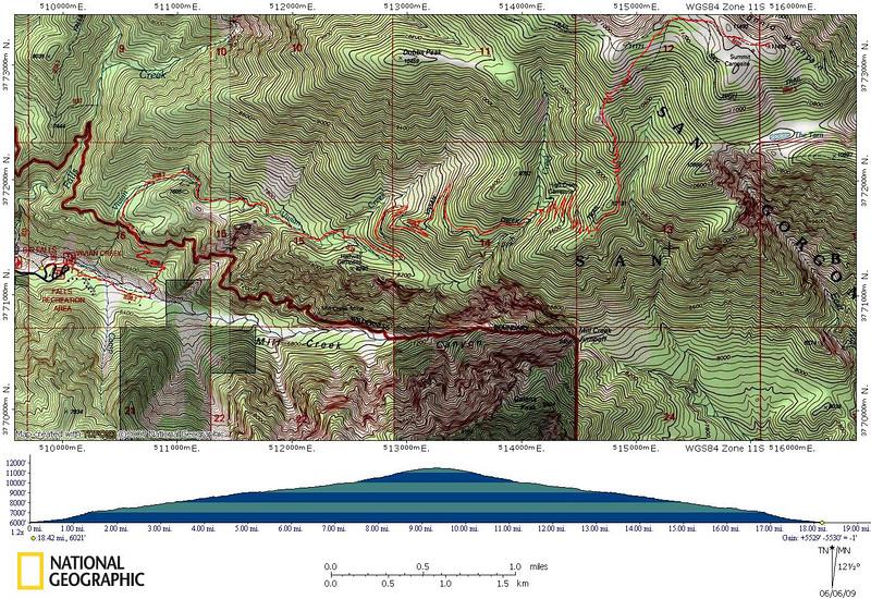 Vivian Creek to San Gorgonio - Track of our hike