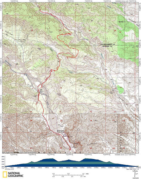 PCT North from Whitewater track