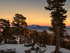Sunset - View over to San Jacinto from along the Vivian Creek Trail in the San Gorgonio Wilderness