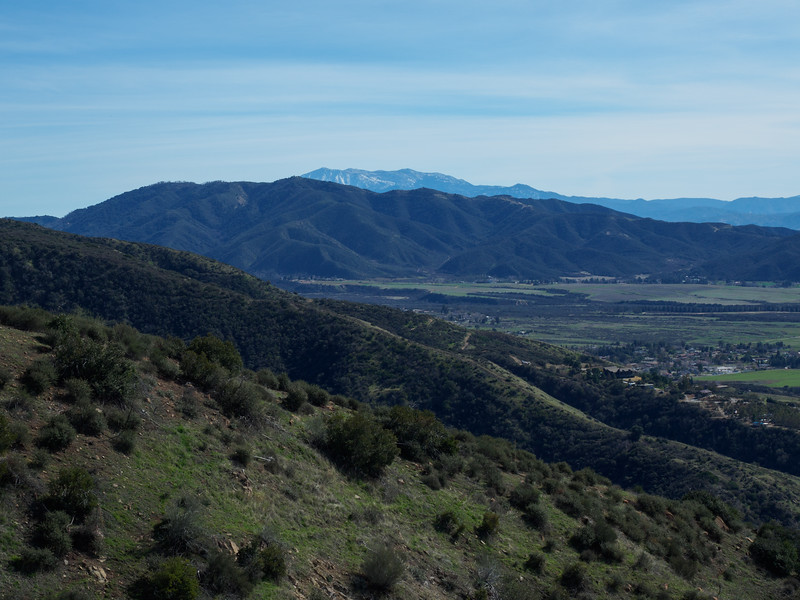 View over to Pisgah Peak and Mount San Jacinto
