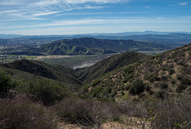 View of the Crafton Hills from along the trail.