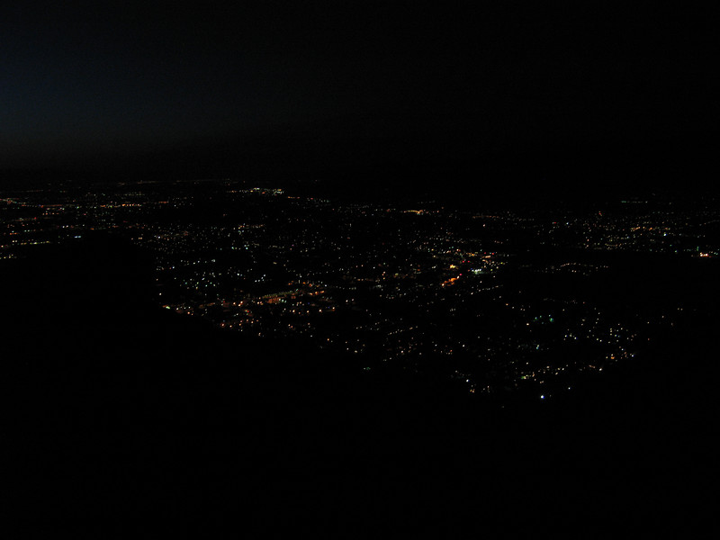 The lights of Palm Springs from the Skyline Trail.