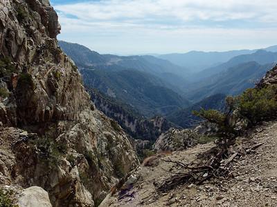 Winston Peak, Winston Ridge, Mount Akawie, and Mount Williamson - North of the Angeles Crest Hwy  2.22.14