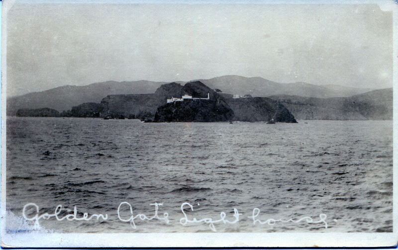 """*An old postcard view of the Point Bonita Light Station*<br /> Eventually by the late 1970's the Point Bonita Light Station became the last manned lighthouse in California.  In April 1981 the light was automated and the last keeper was removed.  Due to its popularity with the public the station was transferred to the National Park Service and opened for visitation as part of the Golden Gate National Recreation Area.  You can visit  <a href=""""http://www.nps.gov/goga/pobo.htm"""">http://www.nps.gov/goga/pobo.htm</a> for more details."""