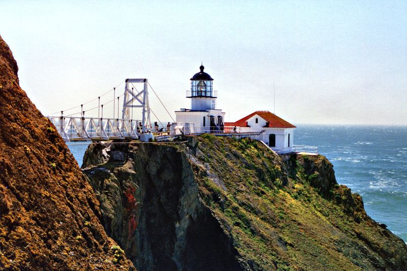 By the 1870's the Light House Board realized that the fog obscured the light and it needed to be moved to a lower elevation. It was decided to build a tower at the tip of Point Bonita where there were steep cliffs and crumbling rock. A path was cut along the cliffs and a 118 foot tunnel was carved by hand through solid rock to reach the point.