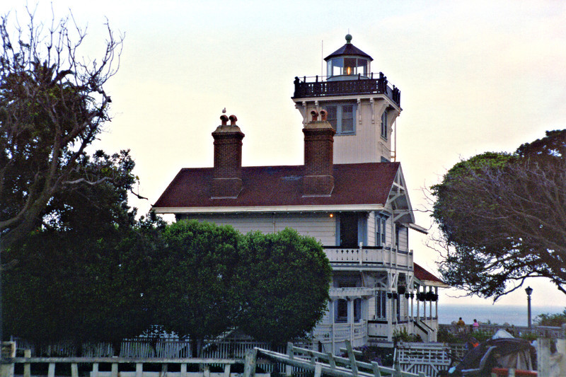 With the outbreak of World War II the lighthouse was darkened.  Eventually the lantern was removed and replaced with a wooden lookout shelter dubbed 'the chicken coop'.  The lookout was used to patrol for enemy submarine activity.  After the war, park employees continued to live at the station.
