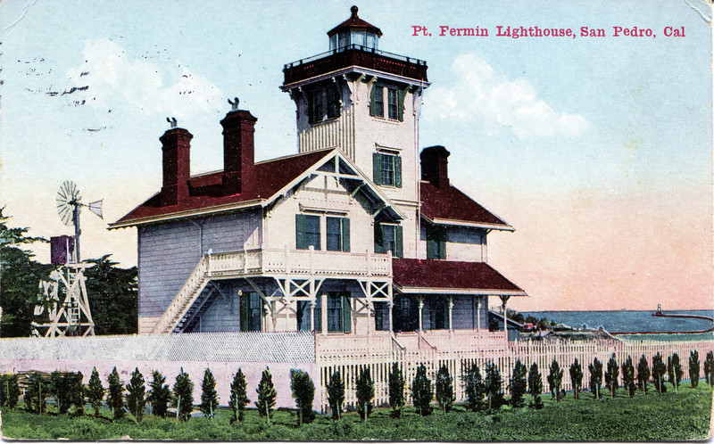 Old turn of the century view of the Point Fermin Lighthouse