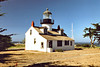 In 1853 workmen sailed on the Oriole from San Francisco to Point Piños with materials to build the lighthouse.  The Oriole had sailed from the east coast with plans and supplies to build the first west coast sentinels.  The style used for all of the lights was a Cape Cod style house with a lantern on the roof.