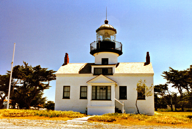 Charles Layton was appointed Keeper of Point Piños in 1854 and he with his wife and four children moved into the lighthouse awaiting delivery of the lens.  In September 1854 Layton joined a posse formed to hunt down a murderer and was shot and killed.  His wife Charlotte was appointed Keeper of the light and she first lit the Point Piños Light on February 1, 1855.  She later married the Assistant Keeper George Harris in 1860 who succeeded her as Keeper.