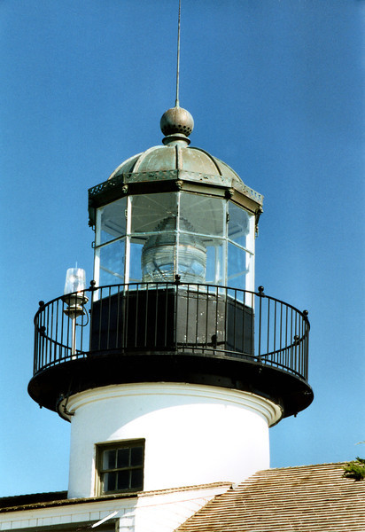 Originally Point Piños was slated to receive a 2nd Order lens, however due to the dismantling of the Fort Point Light in San Francisco, its 3rd Order lens was diverted to Point Piños.  This lens remains in the tower today.