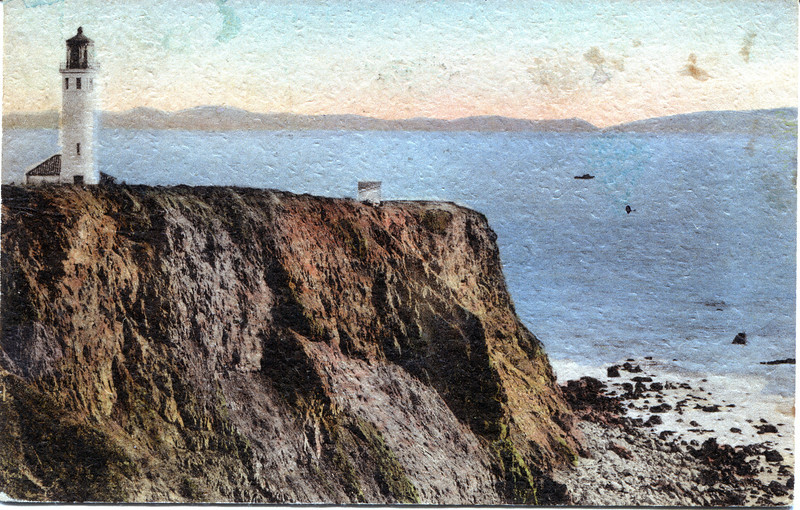 An old postcard view of the Vicente Lighthouse