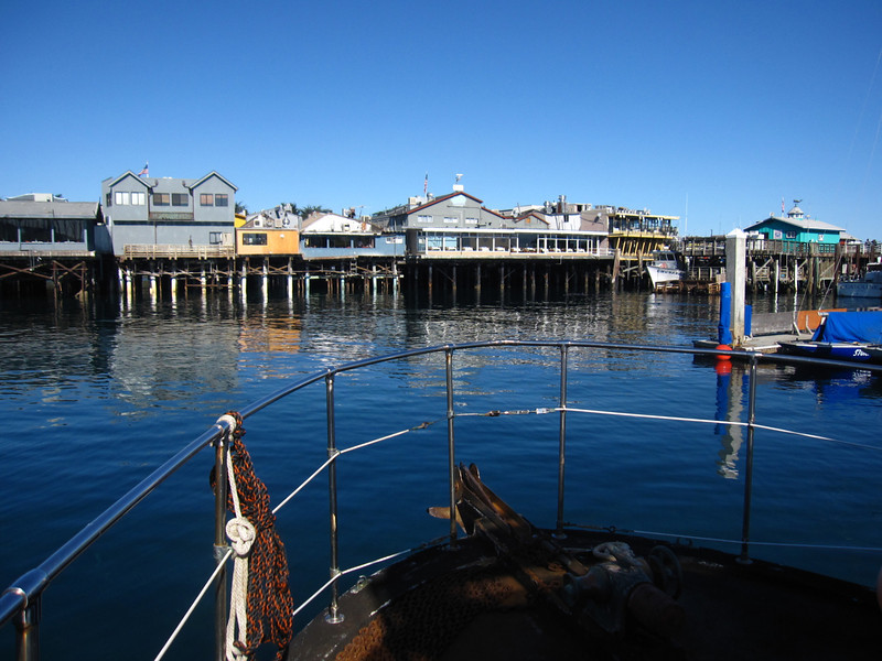 Heading out on the Silver Prince dive boat to scuba dive around the Monterey Peninsula.