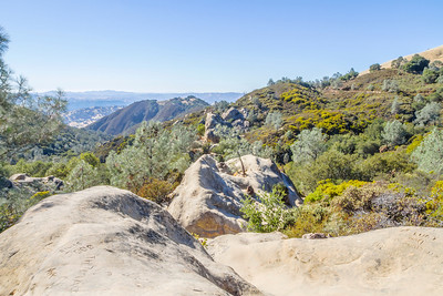HDR Composition. Castle Rock - Mount Diablo State Park - California, USA