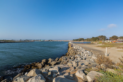 Elkhorn Slough, SR-1 (in the distance). Moss Landing, CA, USA