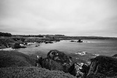 Pigeon Point Bluffs. Near Pigeon Point Lighthouse. Pescadero, CA, USA