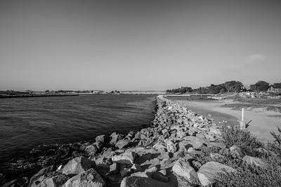 Elkhorn Slough, SR-1 (in the distance). Moss Landing, CA, USA