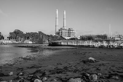 Dynegy Power Plant & Elkhorn Slough. Moss Landing, CA, USA