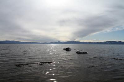 Agate Bay at Lake Tahoe. Kings Beach, CA, USA