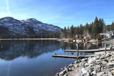 Abandoned Historical Central Pacific Railroad Tunnels on the mountain. Donner Lake - Truckee, CA, USA
