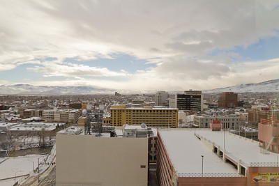 View of Reno from Harrah's Hotel. Reno, NV, USA