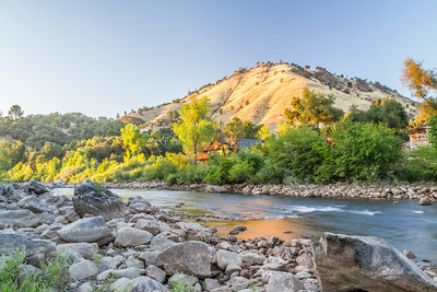 HDR Composition. Sacromento River. American Whitewater Rafting - Placerville, CA, USA