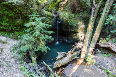 Sempervirens Falls. Big Basin State Park - Boulder Creek, CA, USA