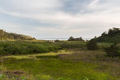 Waddell Creek, Waddell Creek Bridge (SR-1), and Waddell Beach. Near Rancho Del Oso. Skyline-to-the-Sea Trail. Big Basin State Park, CA, USA