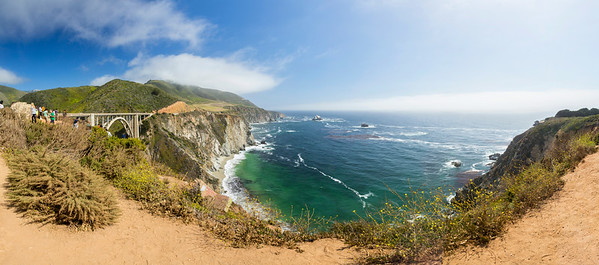 Panorama. Bixby Creek Bridge - Monterey, CA, USA