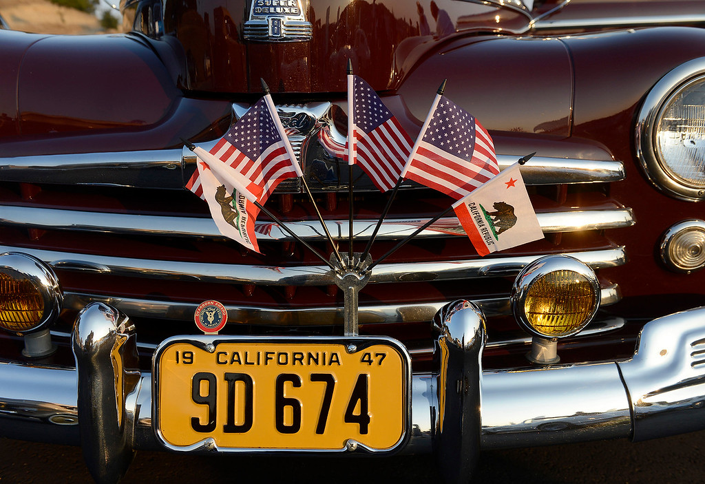 . Classic cars at Laguna Seca on Thursday, August 9, 2018 to participate in the California\'s Dream Drive celebrating the re-opening of Highway 1.  Dozens of classic cars and modern day vehicles drove from Monterey County to San Luis Obispo County.  (Vern Fisher - Monterey Herald)