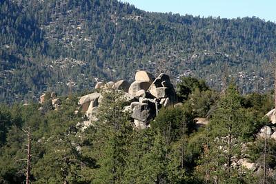 rocks on a hill