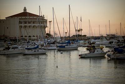 The harbor at dusk