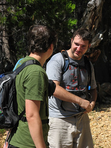 Dave and Kevin after cooling off in the Merced River