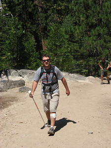 Dave coming up the trail