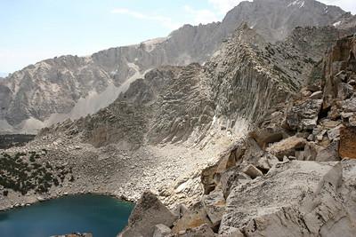 Mountain peaks and Big Pothole Lake