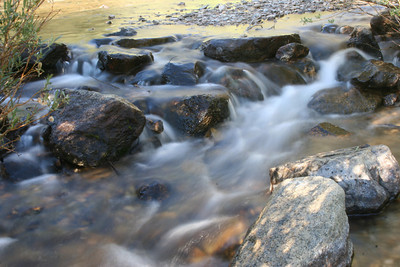 Slow shutter speed to catch the movement of the water