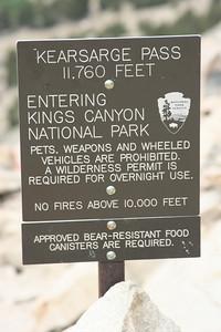 Hey we reached Kings Canyon NP! Whoo Hoo!