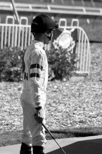 Jockey Waiting for His Race