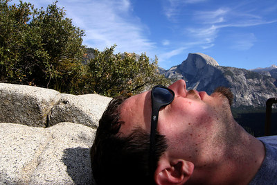 Just had to get a shot like this since we had one like this on top of Half Dome